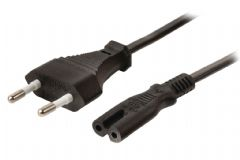 Valueline Fig 8 Power Cable to Euro 2 Pin Plug 5m